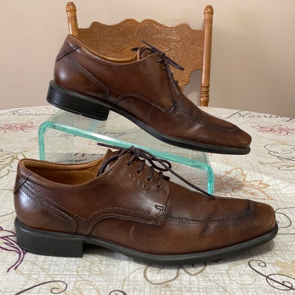 Ecco Brown Leather Oxford Shoes Size 43/ 9-9.5